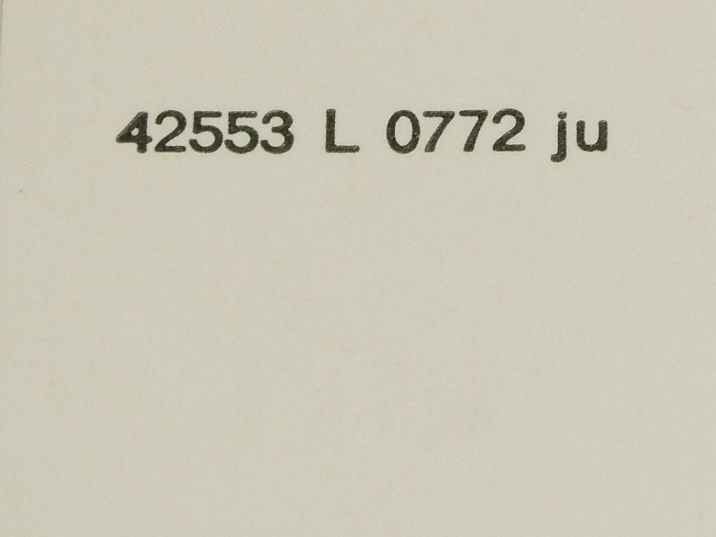 Zeitstempel Lichtmaske - Juli 1972